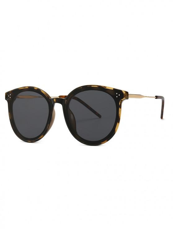 outfit Unisex Round Frame Sunglasses - LEOPARD