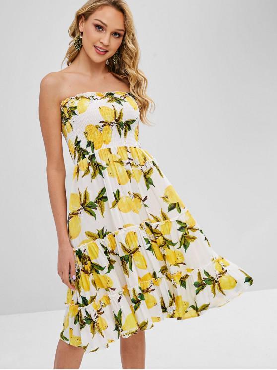 new Smocked Lemon Tube Dress - MULTI XL