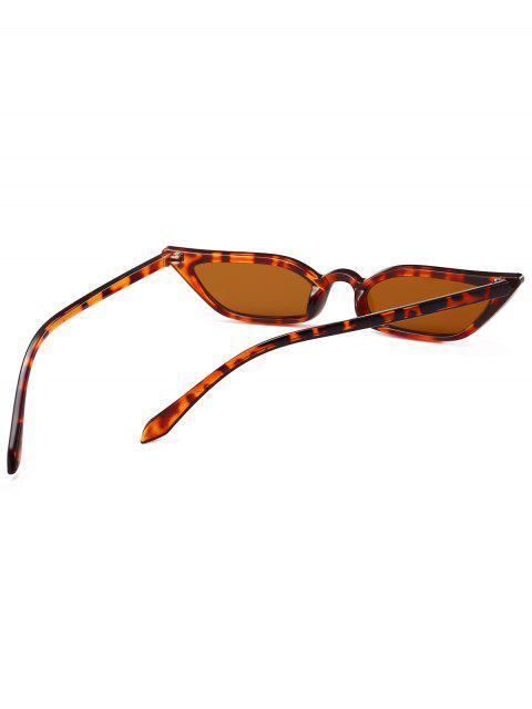 fashion Animal Print Stylish Narrow Lens Sunglasses - LEOPARD  Mobile