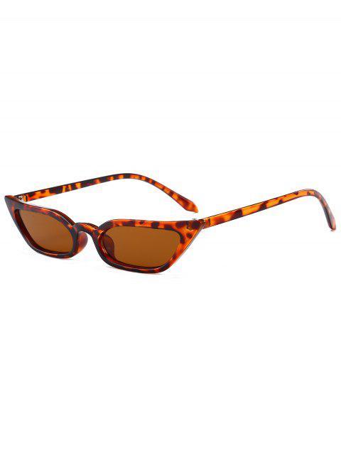 fashion Stylish Narrow Lens Sunglasses - LEOPARD  Mobile