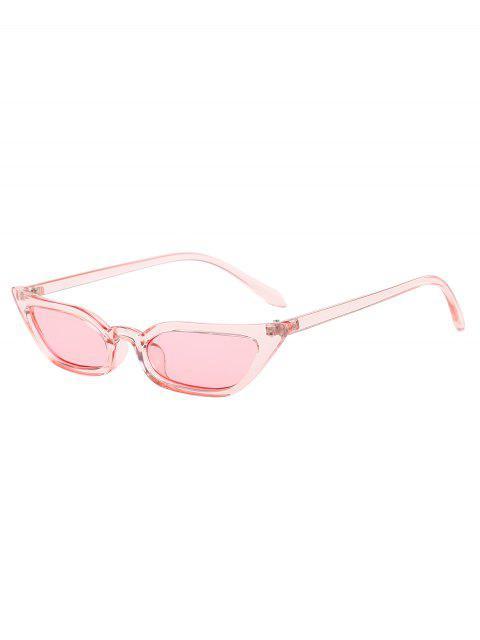 buy Animal Print Stylish Narrow Lens Sunglasses - PINK  Mobile