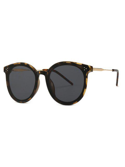 outfit Unisex Round Frame Sunglasses - LEOPARD  Mobile