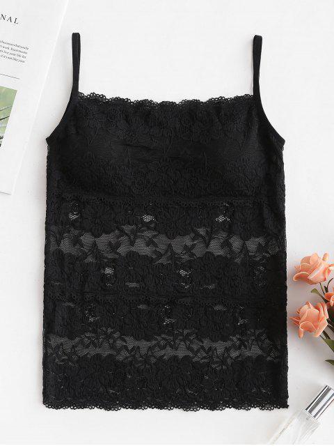 Camisola Acolchada De Encaje - Negro Talla única Mobile