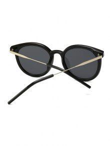 629768287 13% OFF] 2019 Unisex Round Frame Sunglasses In BLACK   ZAFUL