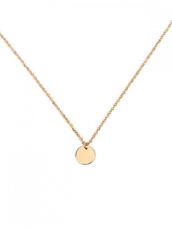 Round Simple Link Chain Necklace - Oro