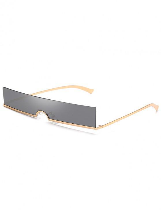 best Rectangle Rimless Stylish Sunglasses - BLACK