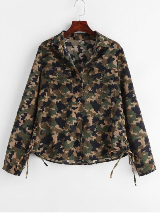 ZAFUL Cordo-Camouflage-Schnürhemd - ACU Tarnanstrich XL