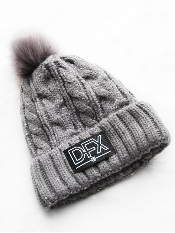 new Stylish Winter Fuzzy Knitted Beanie - GRAY