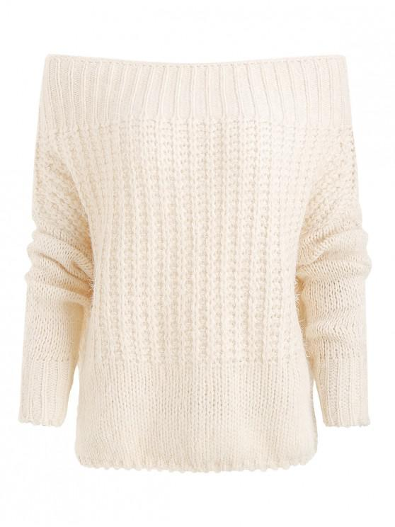 3e951290a3 45% OFF  2019 Off Shoulder Chunky Knit Sweater In WARM WHITE ONE ...