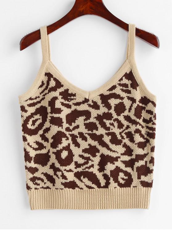 online Leopard Vest Sweater - LEOPARD ONE SIZE