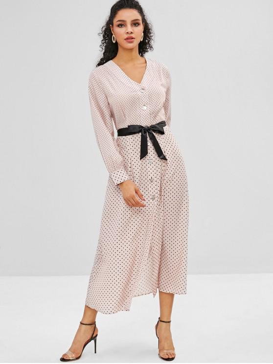 31 off 2019 robe chemise mi longue ceintur e pois. Black Bedroom Furniture Sets. Home Design Ideas