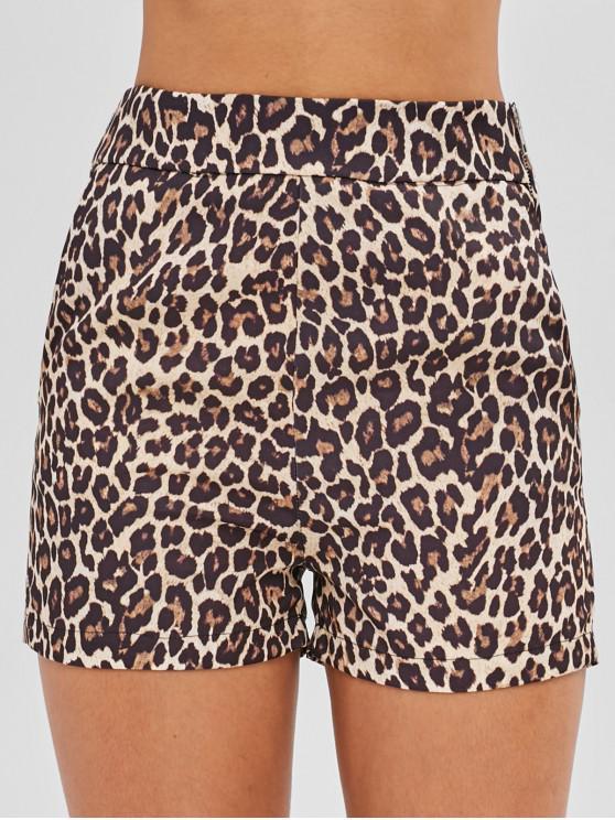 outfits Leopard Pocket Shorts - LEOPARD M