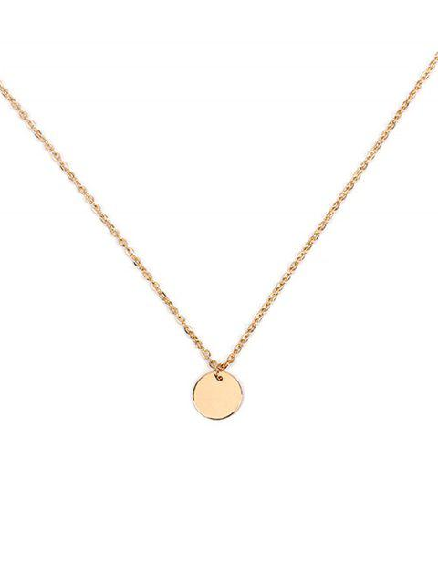 buy Round Simple Link Chain Necklace - GOLD  Mobile