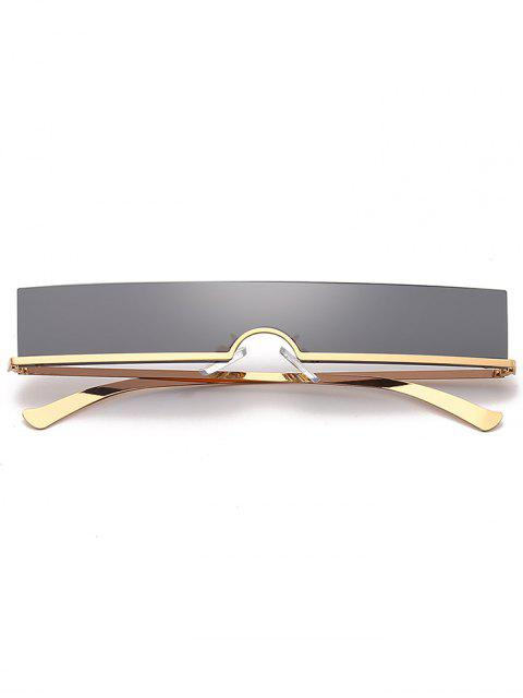 best Rectangle Rimless Stylish Sunglasses - BLACK  Mobile