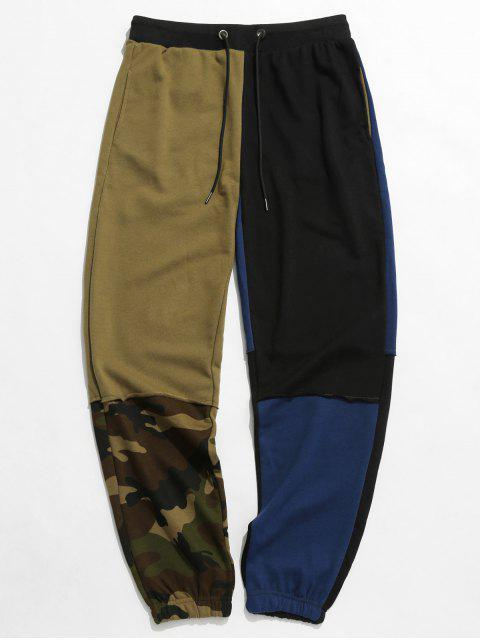 shops Camouflage Patchwork Long Jogger Pants - MULTI 2XL Mobile