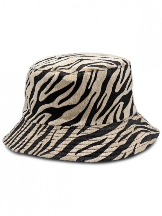 aeb18d7f72 21% OFF] 2019 Zebra-stripe Design Bucket Hat In CAMEL BROWN | ZAFUL
