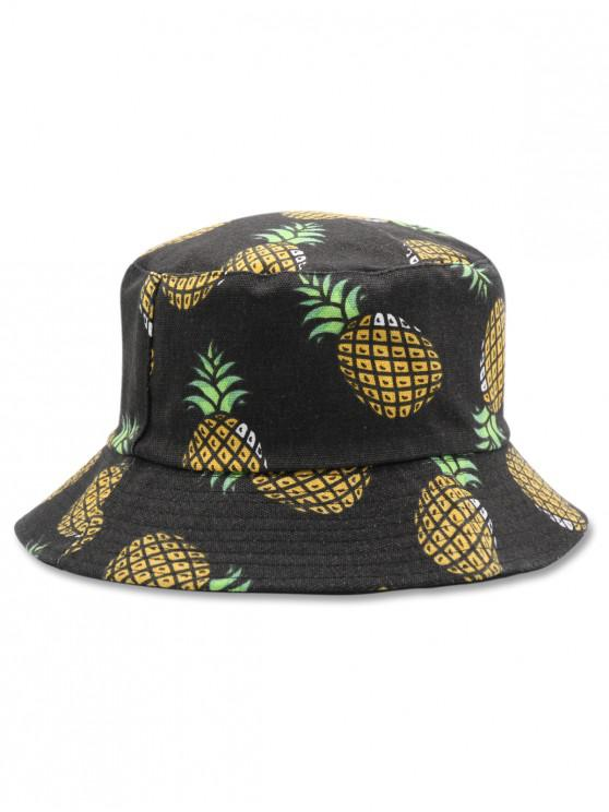 d2467022 12% OFF] [HOT] 2019 Casual Pineapple Design Bucket Hat In BLACK | ZAFUL