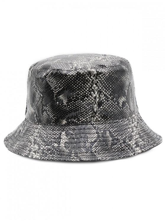760b3c419918d 9% OFF  2019 Novelty Snakeskin Pattern Bucket Hat In BLACK