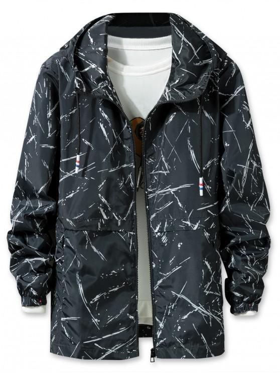 shops Printed Lightweight Jacket - BLACK 3XL