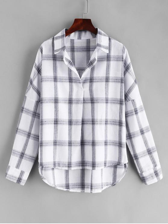 Suéter tejido a cuadros camisa - Multicolor M