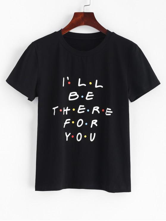 30% OFF] 2019 T shirt A Maniche Corte Grafica A Lettere Di