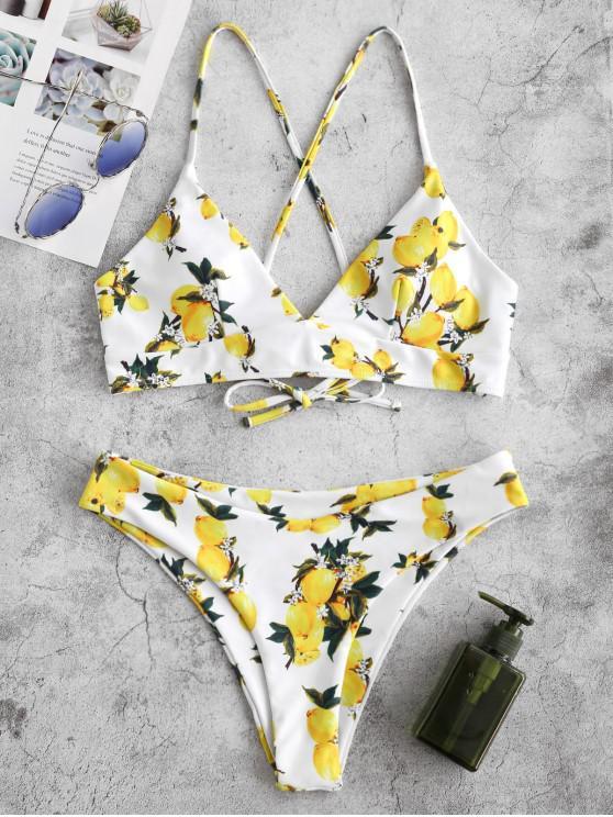 Bikini ZAFUL con lacci e lacci - Multi Colori-A M