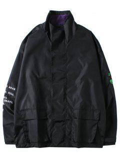 ET Alien Letters Print Jacket - Black Xl