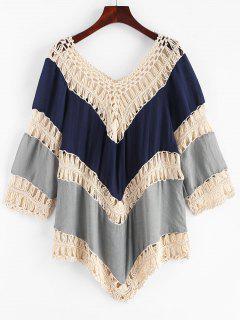 Robe Couverture Panneau Au Crochet En Blocs De Couleurs - Multi-b