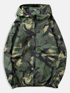 Painting Printed Casual Jacket - Army Green 3xl