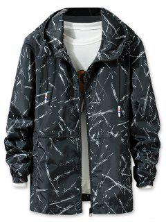 Printed Lightweight Jacket - Black 3xl