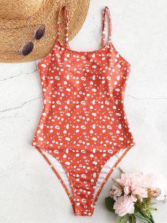 ZAFUL Printed One Piece Swimsuit - Tangerine L