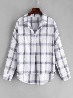 Woven Pullover Plaid Shirt - Multi Xl
