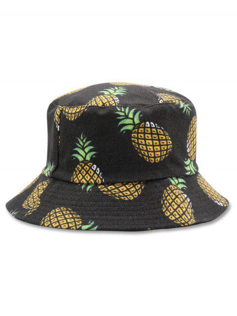 Повседневная Шляпа как ведро Дизайн ананаса - Чёрный  Mobile