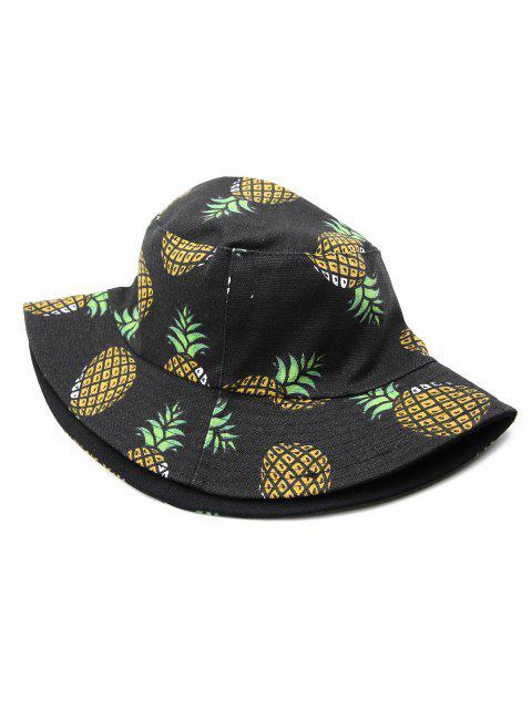 buy Casual Pineapple Design Bucket Hat - BLACK  Mobile