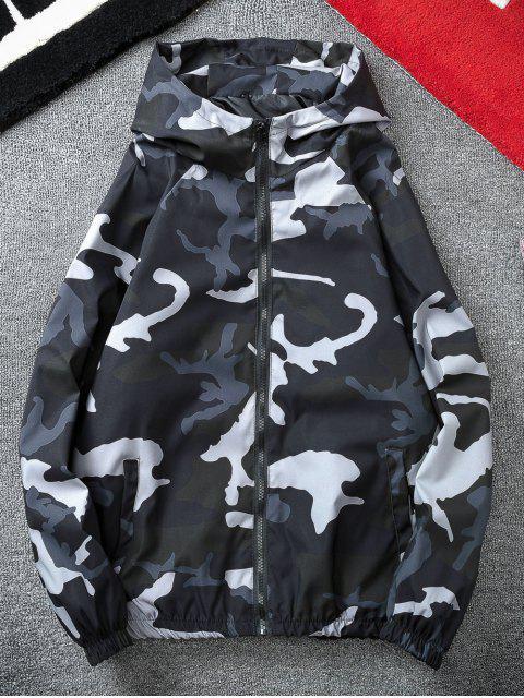 Veste Coupe Vent Camouflage à Manches Raglan - Noir XL Mobile