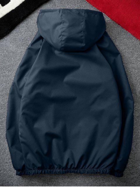 unique Casual Solid Windbreaker Jacket - CADETBLUE 3XL Mobile