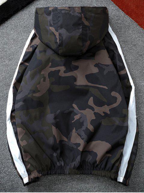 Veste Coupe Vent Camoufalge Rayée - Vert Armée  XL Mobile