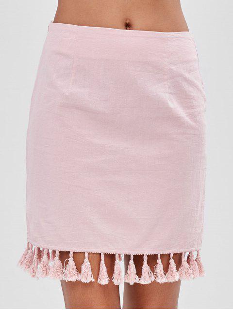 ZAFUL borla ajustada mini falda - Rosado S Mobile
