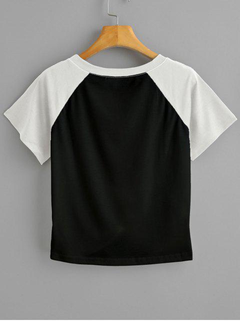 T-shirt Court Bicolore Tordu - Noir XL Mobile