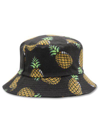 Casual Pineapple Design Bucket Hat - Black ... d6fa9c200f8
