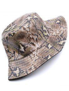 24b9af56917db Novelty Snakeskin Pattern Bucket Hat  Novelty Snakeskin Pattern Bucket Hat  ...