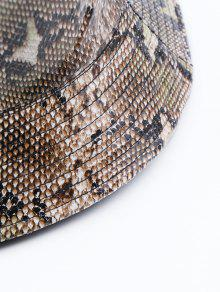 2ebeac9f0f118 2018 Novelty Snakeskin Pattern Bucket Hat In CAMEL BROWN