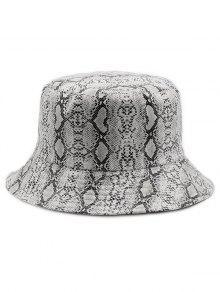 2019 Novelty Snakeskin Pattern Bucket Hat In WHITE  f07ec084073