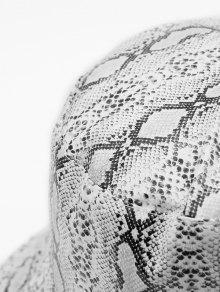 1d66e653ca3db 13% OFF  2019 Novelty Snakeskin Pattern Bucket Hat In WHITE