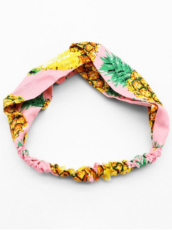 new Pineapple Printed Bohemia Style Headband - PINK