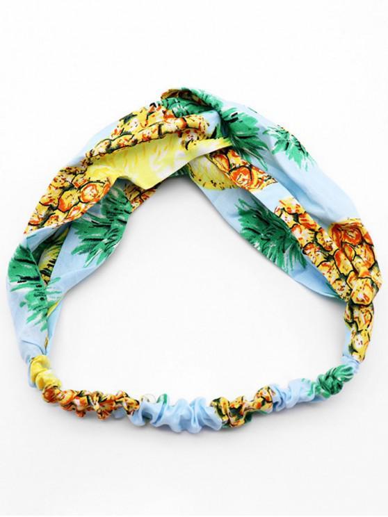 outfit Pineapple Printed Bohemia Style Headband - AZURE
