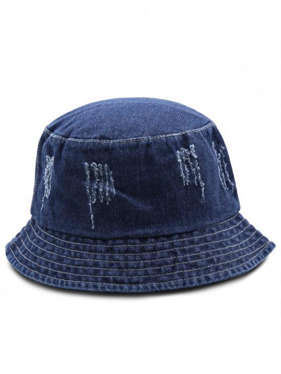 2019 Jean Ripped Bucket Hat In NAVY BLUE  7c6a4d7b9