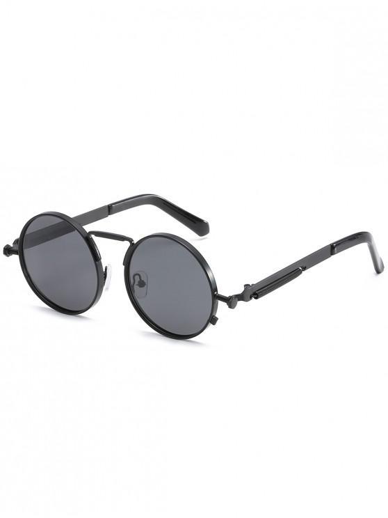 6f6f618b195c4 2019 Óculos De Sol Com Armação Redonda De Metal Polarizado em Preto ...