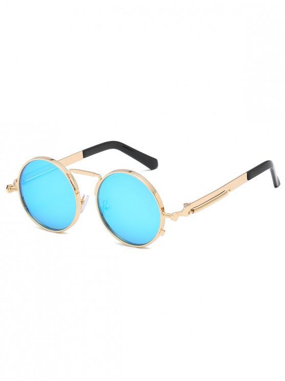 5cdc94b9b4ff9 2019 Óculos De Sol Com Armação Redonda De Metal Polarizado em Azul ...