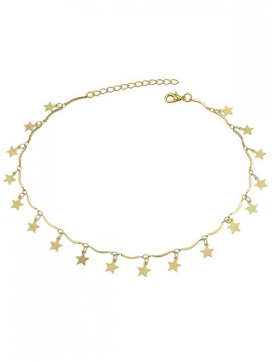 fashion Elegant Star Decoration Alloy Necklace - GOLD